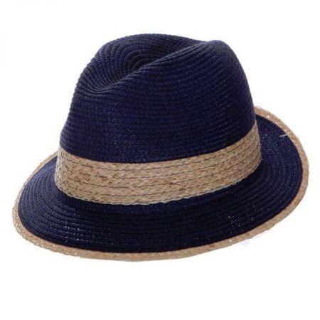Raffia Band Toyo Straw Fedora Hat alternate view 1