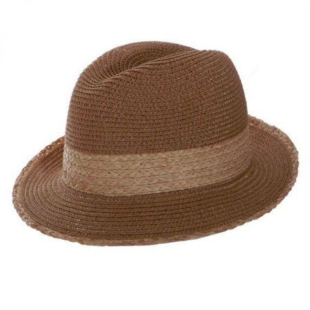 Toucan Raffia Band Fedora Hat