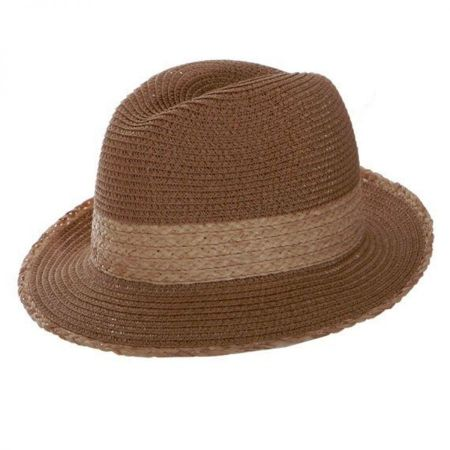 Toucan Collection Raffia Band Fedora Hat