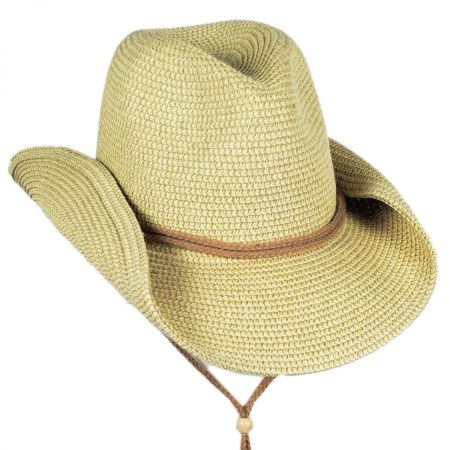 Toucan Collection Heather Toyo Straw Cowboy Hat