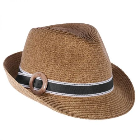 Toucan Collection Buckle Straw Fedora Hat