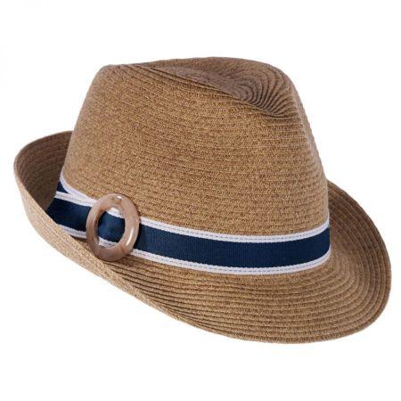 Buckle Toyo Straw Fedora Hat alternate view 1