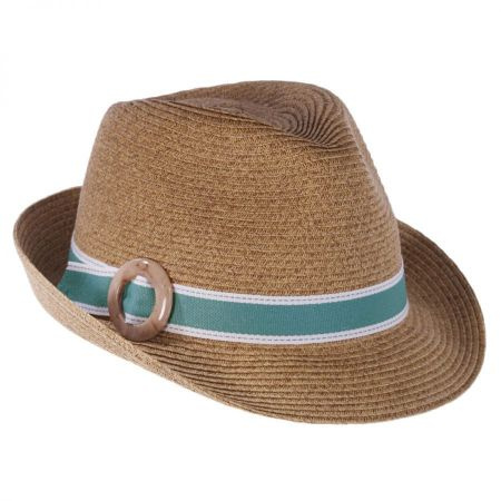 Toucan Collection Buckle Toyo Straw Fedora Hat