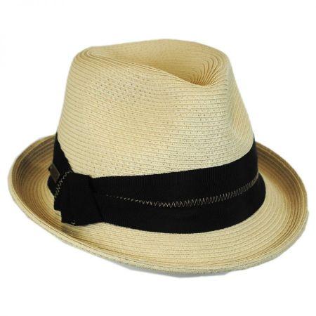 Hatch Hats Zig Zag Stitch Straw Fedora Hat