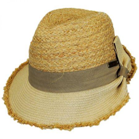 Safari Straw Fedora Cloche Hat alternate view 6