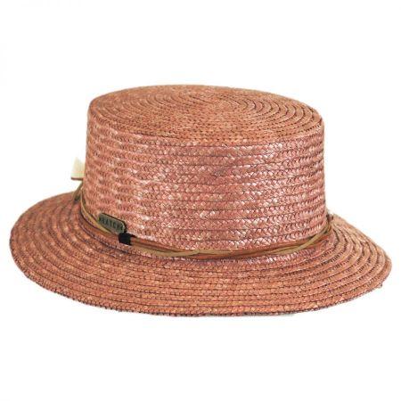 Tribal Trim Straw Boater Hat alternate view 1