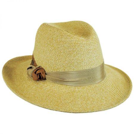 Knotted Band Straw Safari Fedora Hat alternate view 1