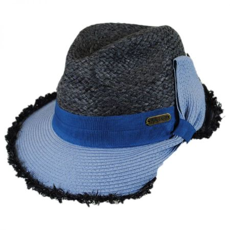 Safari Straw Fedora Cloche Hat alternate view 1