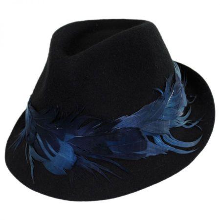 Plume Wool Felt Fedora Hat alternate view 1