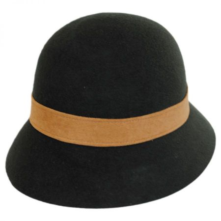 Hatch Hats Laces Wool Felt Cloche Hat