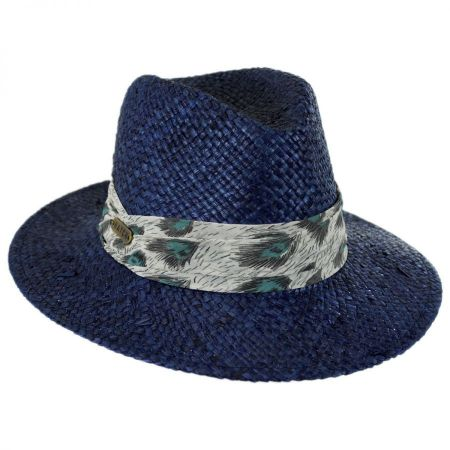 Navy Straw Fedora at Village Hat Shop 0a9b53e7ee6