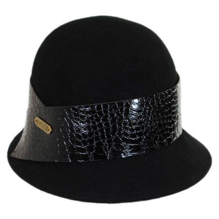 Hatch Hats Patent Band Wool Felt Cloche Hat