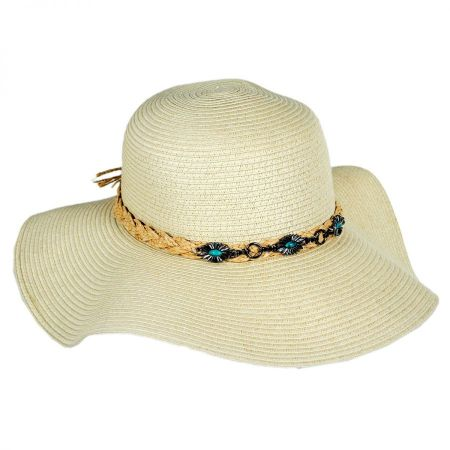 Toucan Collection Santa Fe Toyo Straw Floppy Sun Hat