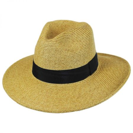 Toucan Collection Wide Brim Toyo Straw Fedora Hat