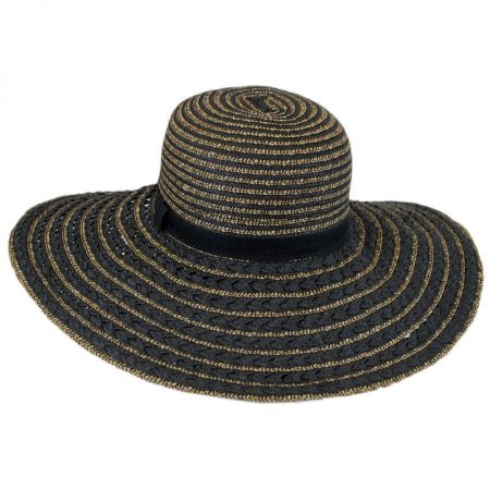 Toucan Collection Textured Straw Beach Sun Hat