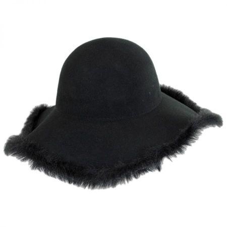 Hatch Hats Fur Edge Wool Felt Floppy Hat