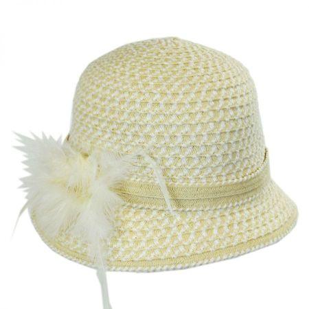 Swan Chenille Ribbon Cloche Hat