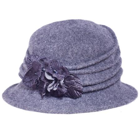 Toucan Collection Autumn Wool Felt Cloche Hat