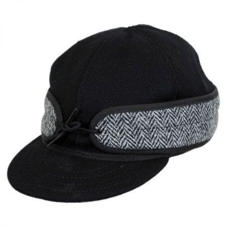 Stormy Kromer Black Harris Tweed Cap