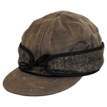 Wax Cotton Harris Tweed Cap