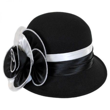 Swan 'Cashmere' Two-Tone Cloche Hat