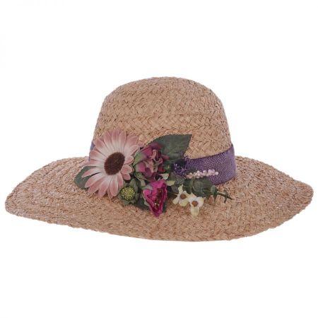 Toucan Collection Cornucopia Raffia Straw Swinger Hat