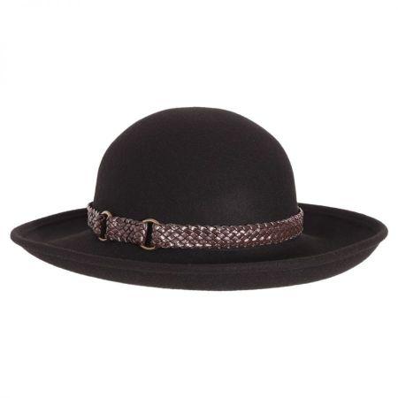 Belted Wool Felt Boater Hat alternate view 1