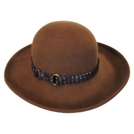 Belted Wool Felt Boater Hat alternate view 2