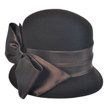 Toucan Collection Satin Bow Cloche Hat
