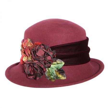 Toucan Collection Rosette Profile Wool Felt Hat