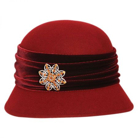 Toucan Collection Brooche Wool Felt Cloche Hat