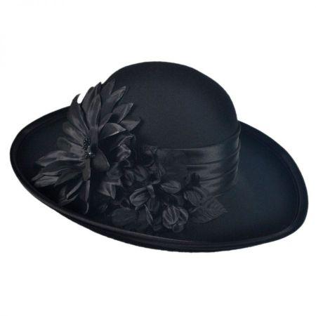 Low Crown Wool Felt Lampshade Hat alternate view 1