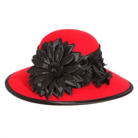 Low Crown Wool Felt Lampshade Hat alternate view 4