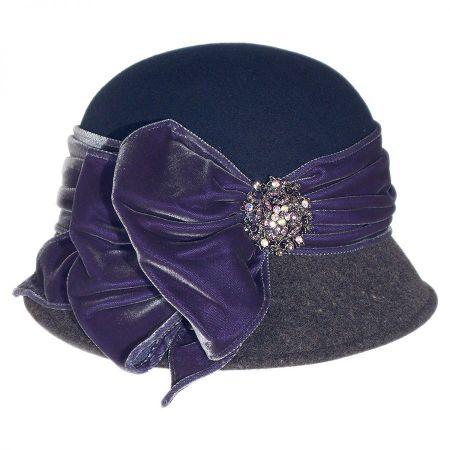 Toucan Vintage Two-Tone Cloche Hat