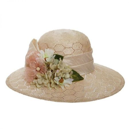 Toucan Collection Bouquet Sisal Straw Sun Hat