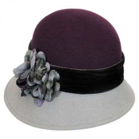 Petal Two-Tone Wool Felt Cloche Hat