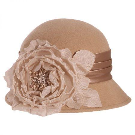 Side Rose Wool Felt Cloche Hat alternate view 2