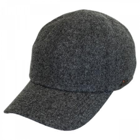 Wigens Caps Melton Wool Earflap Baseball Cap
