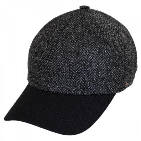 Wigens Caps Herringbone Wool Earflap Baseball Cap