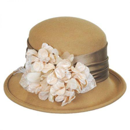 Toucan Petal Profile Wool Cloche Hat