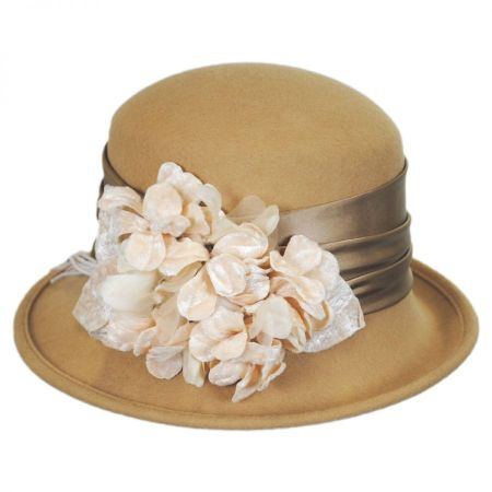 Toucan Collection Petal Profile Wool Felt Cloche Hat