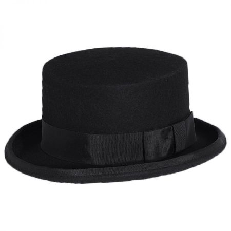 Toucan Collection Rose Veil Coachman Wool Felt Top Hat