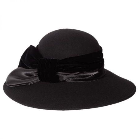 Toucan Collection Satin Velvet Drape Wool Swinger Hat