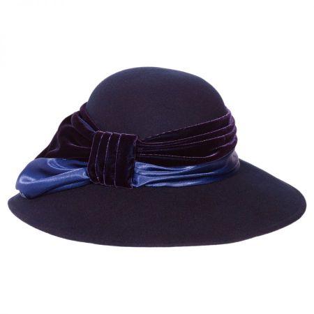 Satin Velvet Drape Wool Felt Swinger Hat alternate view 2