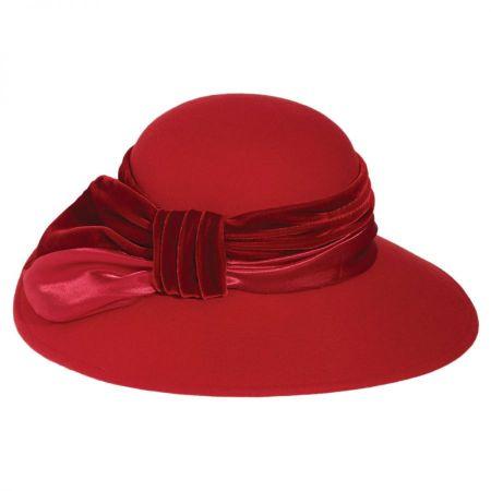 Satin Velvet Drape Wool Felt Swinger Hat alternate view 3