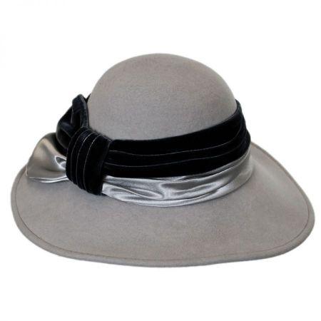 Satin Velvet Drape Wool Felt Swinger Hat alternate view 4