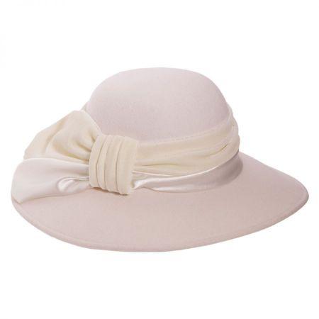 Satin Velvet Drape Wool Felt Swinger Hat alternate view 7