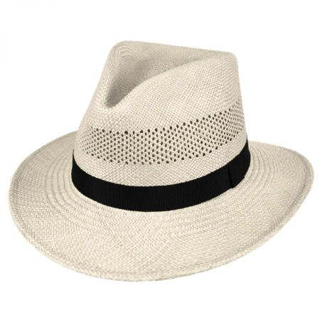 Vented Panama Straw Fedora Hat alternate view 10
