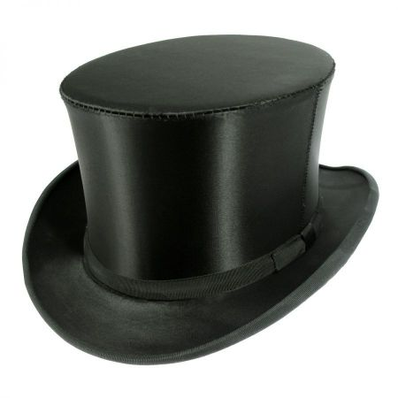Top Hats of America Satin Collapsible Opera Top Hat