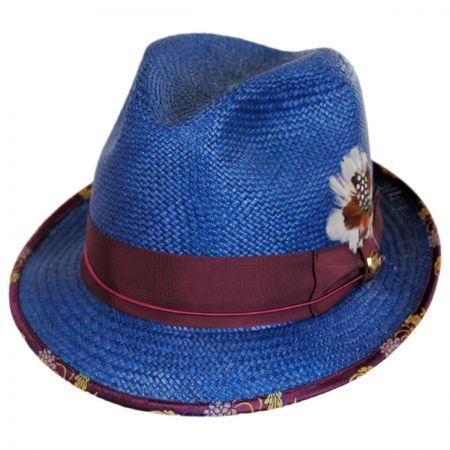 Biltmore Legacy Shantung Straw Fedora Hat